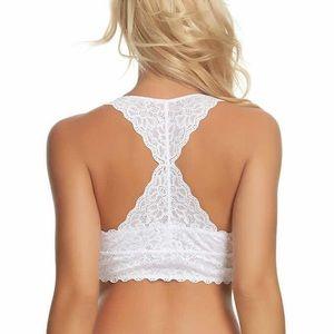 🌸HP🌸New Felina white lace bralette T-back